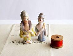 Antique Half Dolls Porcelain Half Pin Dolls by honeyandsea on Etsy, $23.00