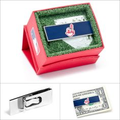 $45.00 MLB Cleveland Indians Money Clip  #moneyclips #giftsfordad #walletloutlet