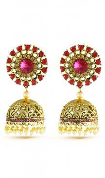 Courteous vintage pink stone with american diamonds party wear earrings. Enriched your look in this earrings. Having material brass with studded stone and american diamonds. Offered with a set of earring. Jhumki Earrings, Sapphire Earrings, Stone Earrings, Drop Earrings, Diamond Party, Sikh Bride, Pearl Cream, Pink Stone, Diamond Design