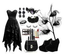 """Sexy modern witch"" by sarah-mathews-1 on Polyvore featuring Avenue, Forever Link, Oscar de la Renta, Chicnova Fashion, Chloé, Stila and modern"