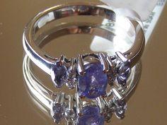 $35.00 Iolite and Tanzinite Ring.  Silver over Brass.