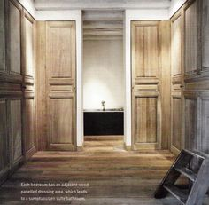 Panelled dressing room with bathroom entry   By edouard vermeulen 9