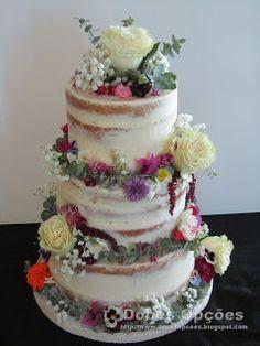 Doces Opções: Naked Cake de Casamento Desserts, Food, Dessert, Sweets, Tailgate Desserts, Deserts, Essen, Postres, Meals