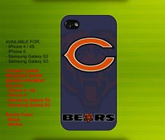 Chicago Bears NFL case for iPhone 4/4S iPhone 5 Galaxy S2/S3 #iPhonecase #iPhoneCover #3DiPhonecase #3Dcase #S4 #s5 #S5case