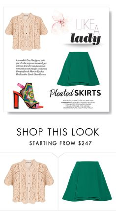 """""""Pleated skirts"""" by alexandra-barbu-1 ❤ liked on Polyvore featuring self-portrait, Opening Ceremony, Kat Maconie and pleatedskirts"""