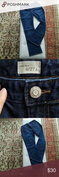 """GAP Curvy Flare A beautiful pair of dark washes!  A curvier cut through the hips with slight leg flare to show off your shape! Just the right subtle whiskering & fading at the hips!  Waist:  29"""" Rise:  8"""" Hip:  37"""" Inseam:  29.5"""" GAP Jeans Flare & Wide Leg"""