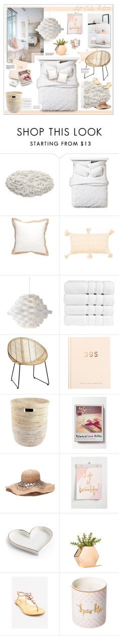 """Soft Color Palette"" by caroline-brazeau on Polyvore featuring interior, interiors, interior design, home, home decor, interior decorating, Boho Boutique, Home Fashions International, Archive New York and Torre & Tagus"