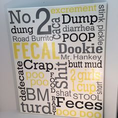 Bathroom Signs No Pooping funny bathroom sign, funny bathroom decor, rustic decor, funny