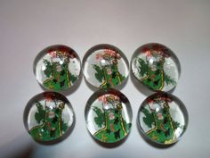 Glass Marble Magnets Christmas / 72 by LisaChristines on Etsy, $5.00