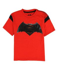 Loving this Batman Vs. Superman Red Tee - Toddler & Boys on #zulily! #zulilyfinds