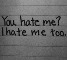 I hate me too