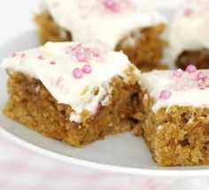 Frosted carrot squares