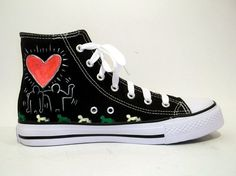 Fancy - Hand Painted Sneakers - Love on Luulla Fancy Hands, Painted Sneakers, Sneaker Art, Crazy Shoes, Wearable Art, Converse Chuck Taylor, High Top Sneakers, Hand Painted, Pairs