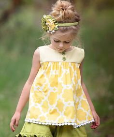 Look at this Yellow Avery Top - Infant, Toddler & Girls on #zulily today!