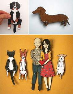 Personalized paper dolls by Jordan Grace Owens on Etsy! How cute!