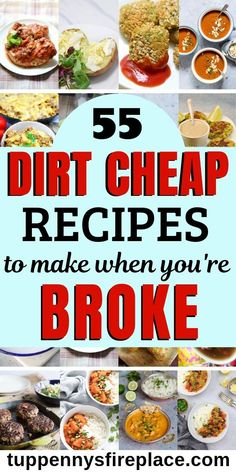 Healthy, easy cheap recipes for your family or for two. Check out all these fantastically frugal recipes. Whether you want keto, vegetarian, vegan or budget recipes for college students, these 55 cheap recipes  have got you covered.