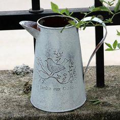 Vintage Metal Flower Vase / Watering Can