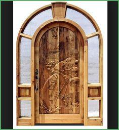 Hand Carved Wooden Front Door