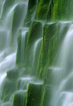 Natural waterfalls over moss #stunning #photography #awesome