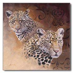 Originale A Heins: Leoparden - Portrait