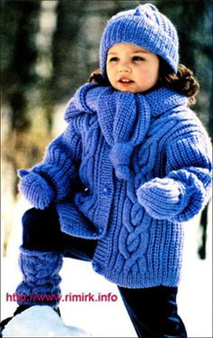 cabled coat and hat pattern