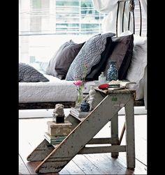 Step ladder bedside table