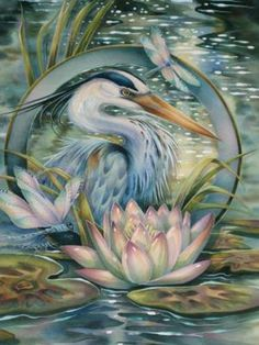 """Be like The Lotus And Rise In Beauty From Muddy Waters."" ~ painting by Jody Bergsma"