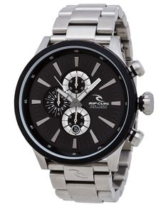 Rip Curl Mens Watch Recon XL Chrono Black