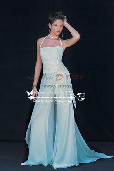085f7ee29a22 Beach wedding wear White chiffon bridal jumpsuit Low price wps-037