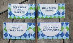 Printable Golf Party Food Buffet Labels                                                                                                                                                                                 More