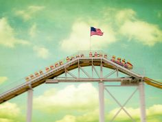 A roller coaster like Pacific Park's is definitely an American classic!