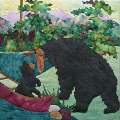 McKenna Ryan, Dinner for Two Quilt Pattern, Out & About, Quilting, DIY, Mountain Forest Scenes