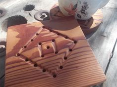 Square trivet hand tooled from reclaimed Canadian Cedar sold by joxamara crafts and herbs. Shop more products from joxamara crafts and herbs on Storenvy, the home of independent small businesses all over the world.