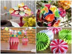 10 brinquedos e artesanatos com reciclagem para o Dia das Crianças | Como fazer em casa Christmas Signs, Wraps, Gift Wrapping, Halloween, Paper, Gifts, Pallets, Easy Fabric Flowers, Flower Decoration
