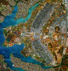 Vista aérea de Brasília, DF