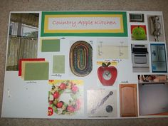 Country apple-themed kitchen I designed for an interior design class in high school. So cute!