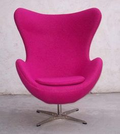 Arne Jacobsen Style Egg Chair In Pink Cashmere