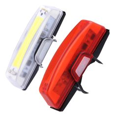 100 lumens USB Rechargeable Bicycle Bike Front Rear LED Tail Lights Waterproof 6 Modes COB Water Resistant Bicycle Lights #Affiliate