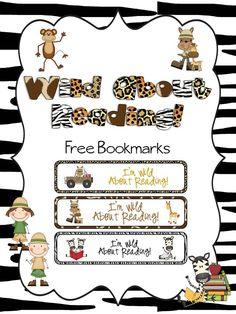 Free Wild About Reading Bookmarks