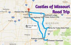 Explore some of the most magical castles that Missouri has to offer by hopping in your car and setting off on this fun weekend road trip.