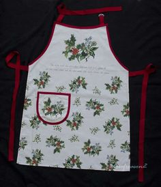 PORTMEIRION THE HOLLY AND THE IVY COTTON DRILL APRON | eBay