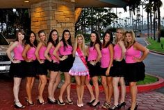 The Ultimate Bachelorette Party Checklist - Matching outfits!