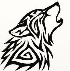 Resultado de imagem para lobo tribal