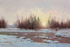 "Vasily Gribennikov "" The beginning of spring"", 18*24, 2004"