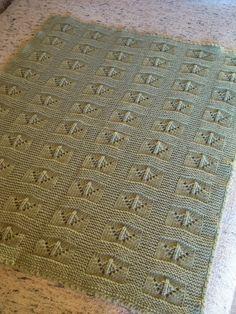 Vintage Handmade: Baby blanket - Copertina verde II.