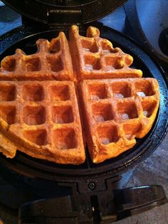 Paleo Sweet Potato Waffles. This requires the good old tradition of whipping your egg whites before adding the other ingredients. I rarely use recipes like that, but always love the results when I do! Sweet potato, eggs, coconut milk, almond butter, coconut flour are the primary ingredients...in very small amounts. This makes 2 waffles.