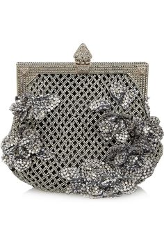 Valentino Beaded satin clutch ... So vintage chic.