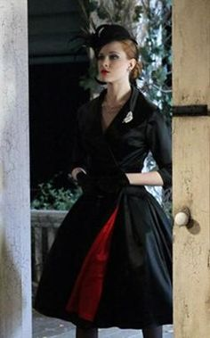 black jacket with red lining worn by Queen Sophie Anne on True Blood