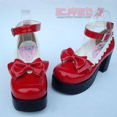 I adore these Lipstick Lolita Shoes!