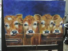Calves. oil on canvas